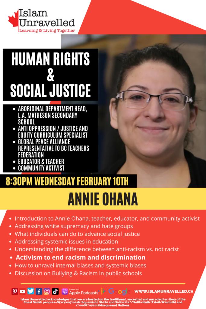 Annie Ohana: Anti-Racist Teacher and Community Activist