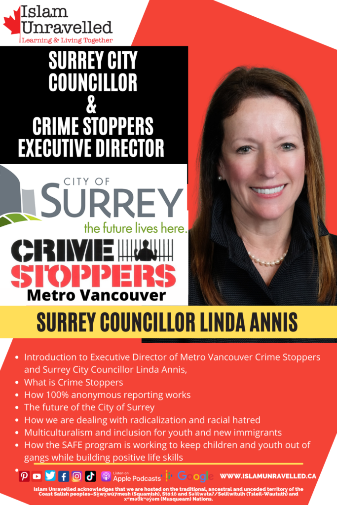 Surrey City Councillor & Crime Stoppers Director Linda Annis