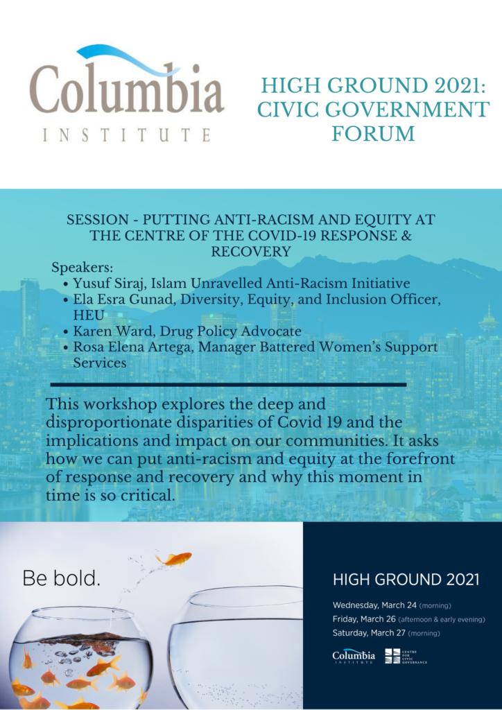 Columbia Institute:  High ground 2021 – Civic Government Forum